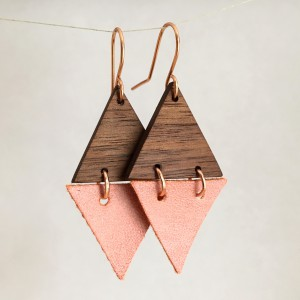Triangles – Walnut and Faux Leather