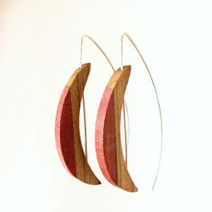 Crescent – Pink Ivory and Olive Wood