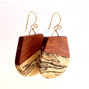 Fin – Bloodwood and Spalted Maple