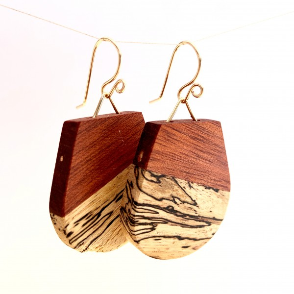 Fin's - Bloodwood & Spalted Maple