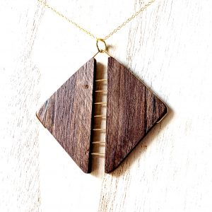Zip Pendant – Black Walnut
